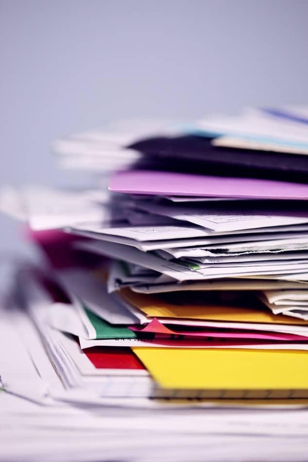 la dématérialisation d'une pile de documents